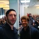 New software despite legacy DB - Gigi & Philip #selfie at Symfony Live 2014 in Berlin