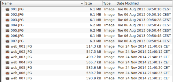 resize images with imagemagick - file list
