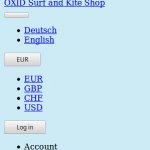 OXID eShop without CSS