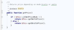 getPrice() method